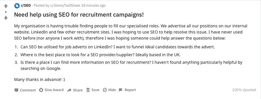 Recruitment SEO